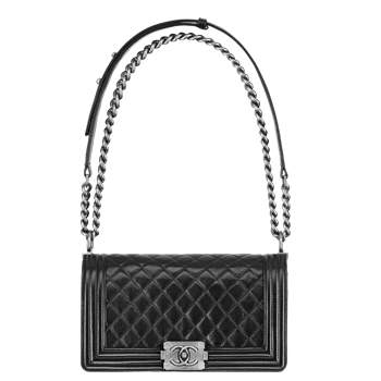 CHANEL BOY flap bag black