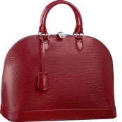Louis Vuitton Alma Red