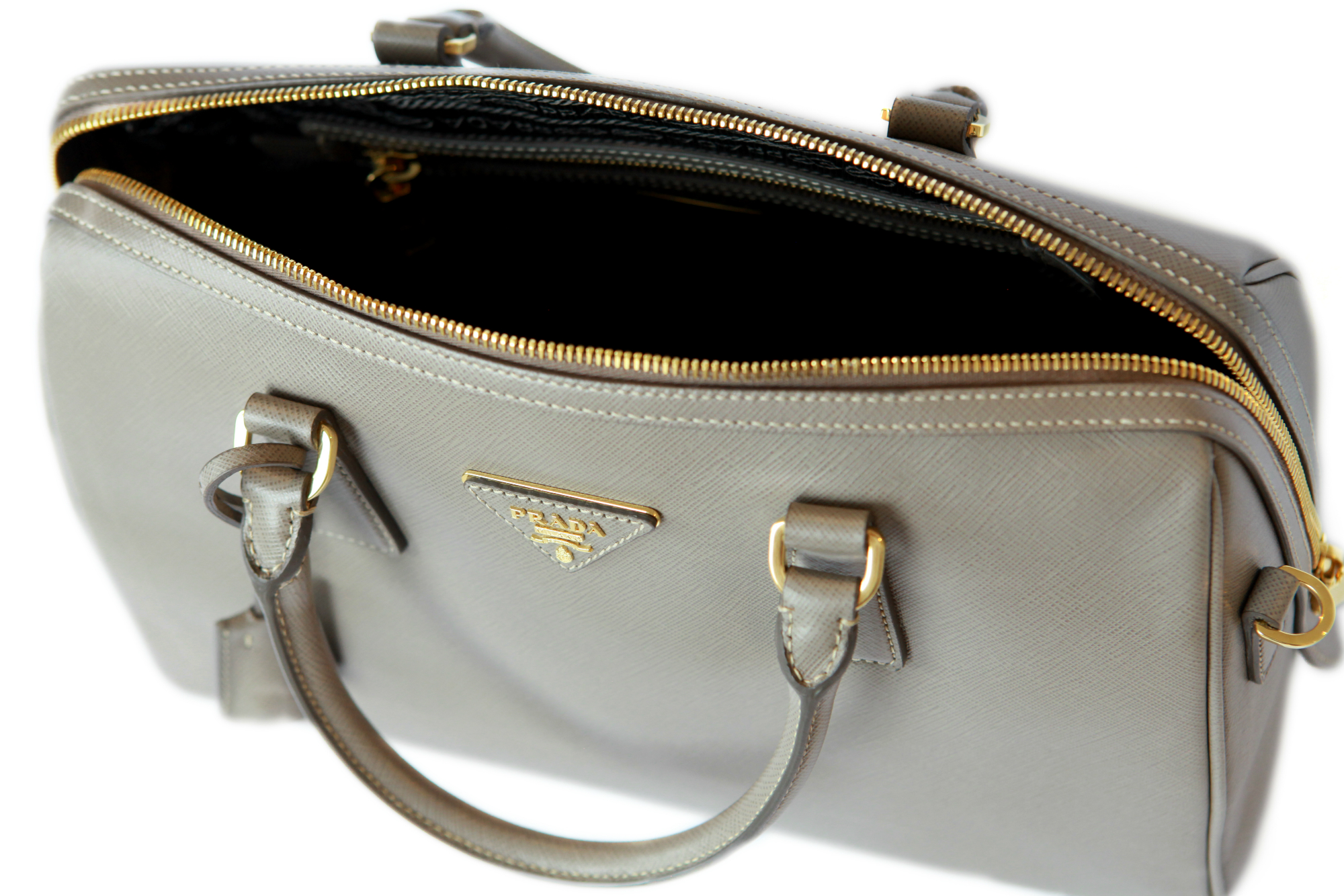 Hire a Prada Saffiano Lux Bauletto Bag from Elite Couture