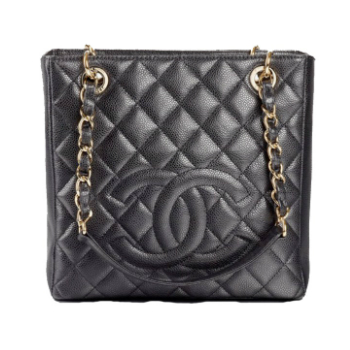 chanel shopping bag black