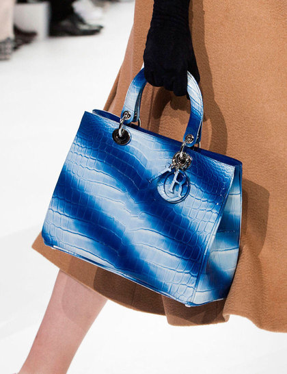 dior blue stripe bag