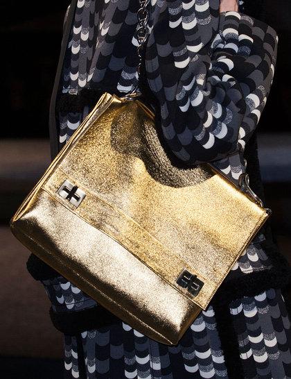 prada gold bag